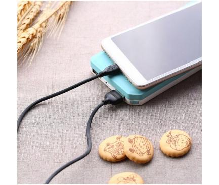 Cablu Date si Incarcare USB la MicroUSB Proda PD-B05m, 1.2 m, Alb, Blister