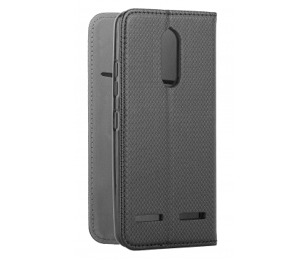 Husa Piele OEM Smart Magnet pentru Nokia 5.1, Neagra, Bulk