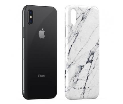 Husa Plastic Burga Satin Apple iPhone X, Alba, Blister iPX_SP_MB_04