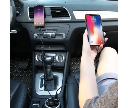 Incarcator Auto cu fir USB Tip-C Floveme, 1 X USB, 2.1A, Negru, Blister