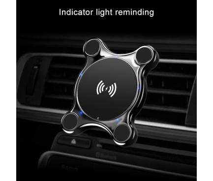 Incarcator Wireless Auto Totu Design CACW-017, Quick Charge, Negru, Blister