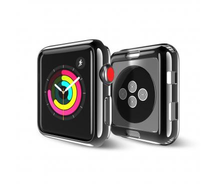 Husa TPU DUX DUCIS pentru Apple Watch Edition series 1/2/3 38mm, Neagra, Blister