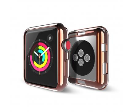 Husa TPU DUX DUCIS pentru Apple Watch Edition series 1/2/3 38mm, Roz Aurie, Blister