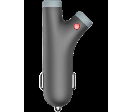 Incarcator Auto USB Emtec U200, 2 X USB, 3.4A, Gri, Blister