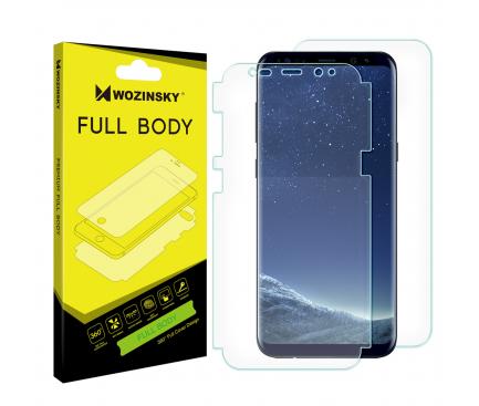 Folie Protectie Fata si Spate WZK pentru Samsung Galaxy S8 G950, Plastic, Full Cover, Blister