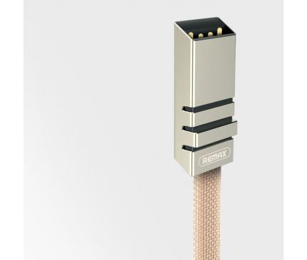 Cablu Date si Incarcare USB la MicroUSB Remax Weave RC-081m, 1 m, Negru, Blister