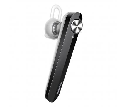 Handsfree Casca Bluetooth Baseus A01, MultiPoint, Negru, Blister