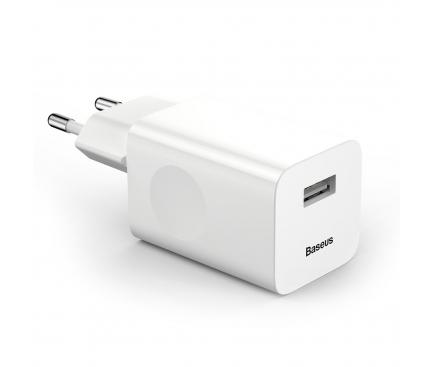 Incarcator Retea USB Baseus Quick Charge, 1 X USB, Alb, Blister