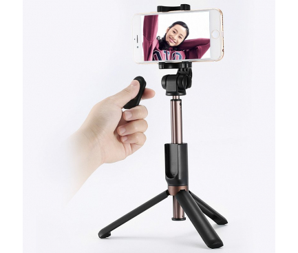 Selfie Stick cu Trepied si telecomanda bluetooth Remax P9 Blister