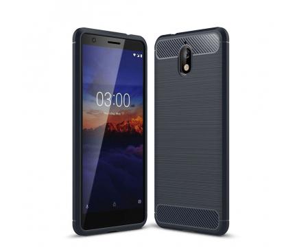 Husa TPU OEM Carbon pentru Nokia 3.1, Bleumarin