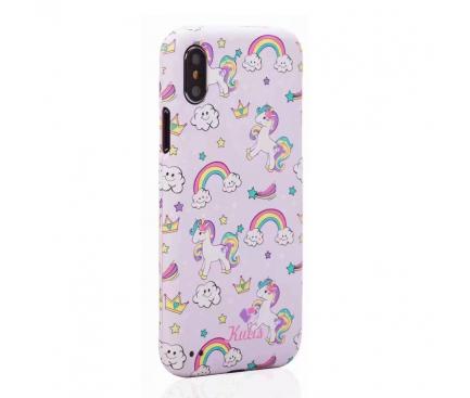 Husa Plastic Full Cover Kutis Unicorn KH-8 pentru Apple iPhone X / Apple iPhone XS, Multicolor, Blister