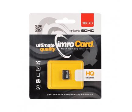Card Memorie MicroSDHC Imro, 16Gb, Clasa 10 - UHS-1 U1