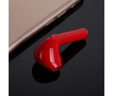 Handsfree Casca Bluetooth OEM HBQ-i7, SinglePoint, Rosu, Blister