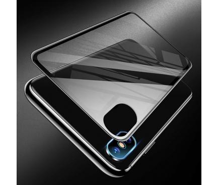 Folie Protectie Camera spate si Spate Totu Design pentru Apple iPhone X / Apple iPhone XS, Sticla securizata, Rhino Family, Neagra, Blister