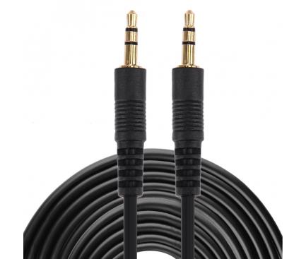 Cablu Audio 3.5 mm la 3.5 mm OEM, 3 m, Negru, Bulk