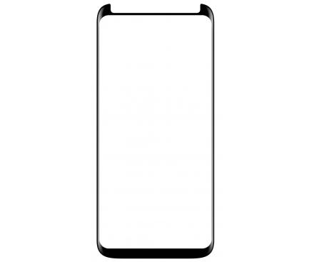 Folie Protectie Ecran XO Design Samsung Galaxy S9 G960, Sticla securizata, Full Face, Edge Glue, FD1, Neagra, Blister