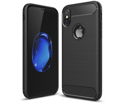 Husa TPU OEM Carbon pentru Apple iPhone XS Max, Neagra