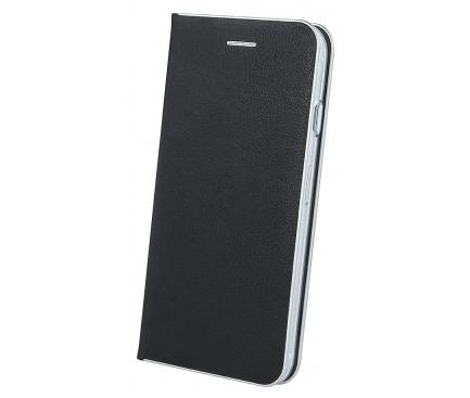 Husa Piele OEM Smart Venus pentru Samsung J6 Plus (2018) J610, Neagra, Bulk
