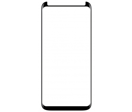 Folie Protectie Ecran Forever pentru Samsung Galaxy S9 G960, Sticla securizata, Full Face, Edge Glue, 5D, Neagra, Blister