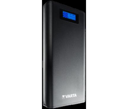 Baterie Externa Powerbank Varta cu afisaj, 18200 mA, 2 x USB, Neagra, Blister