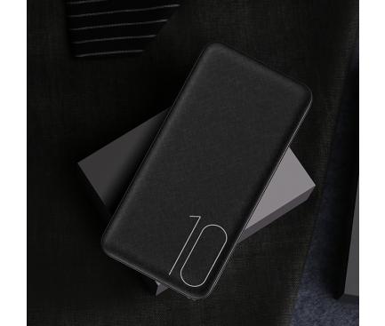 Baterie Externa Powerbank Usams US-CD63 10000 mA, 2 x USB, Neagra, Blister