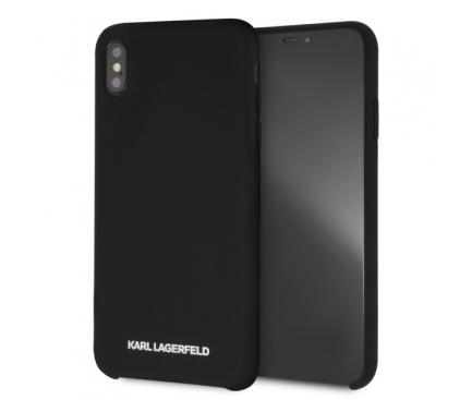Husa TPU Karl Lagerfeld  pentru Apple iPhone XS Max, Neagra, Blister KLHCI65SLBKS