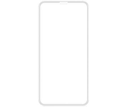Folie Protectie Ecran VIDVIE pentru Apple iPhone X / Apple iPhone XS, Sticla securizata, Full Face, Full Glue, 5D, Alba, Blister