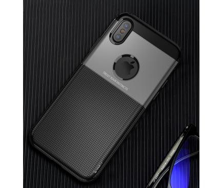 Husa TPU iPaky Shield pentru Apple iPhone X / Apple iPhone XS, Neagra, Blister