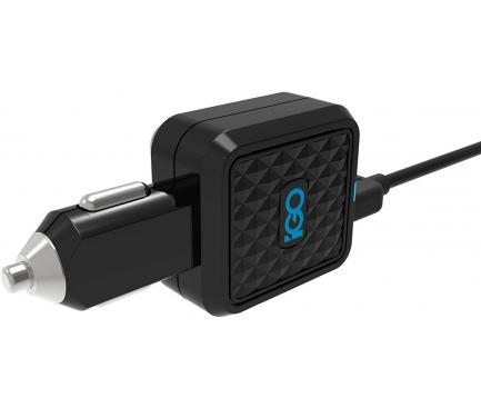 Incarcator Auto USB iGO PS00317-0003, 4.2A, 2 X USB, Negru, Blister