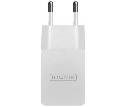 Incarcator Retea USB Inuvik INP000104, 2.1A, 1 X USB, Alb, Blister