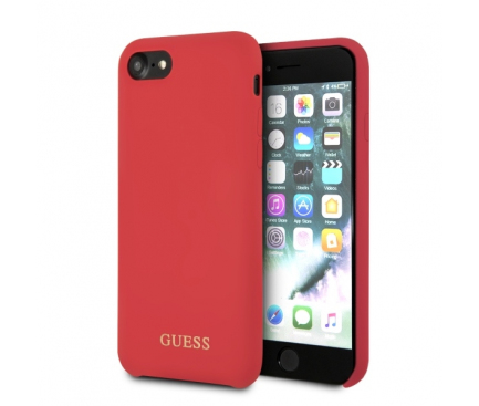 Husa TPU Guess pentru Apple iPhone 7 / Apple iPhone 8, GUHCI8LSGLRE, Rosie, Blister