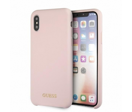Husa TPU Guess pentru Apple iPhone X / Apple iPhone XS, GUHCPXLSGLLP, Roz, Blister