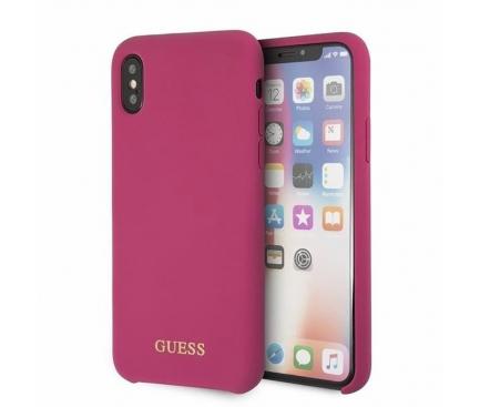 Husa TPU Guess pentru Apple iPhone X / Apple iPhone XS, GUHCPXLSGLPI, Roz, Blister