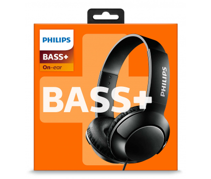 Casti On-Ear Philips BASS+, Fara microfon, 3.5 mm, Negru, Blister SHL3070BK/00