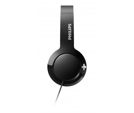 Handsfree Casti On-Ear Philips BASS+, Cu microfon, 3.5 mm, Negru, Blister SHL3075BK/0