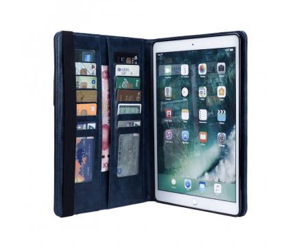 Husa Tableta Piele OEM Card Slots pentru Apple iPad 9.7 (2018) / Apple iPad Pro 9.7 (2016) / Apple iPad Air / Apple iPad Air 2, Bleumarin, Bulk