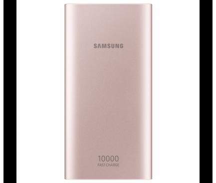 Baterie Externa Powerbank Samsung Micro USB 10000 mA Fast Charging, 2 x USB, Roz, Blister EB-P1100BPEGWW
