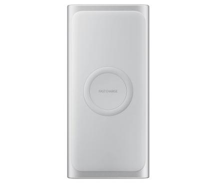 Baterie Externa Powerbank Samsung EB-U1200, 10000 mA, 1 x USB, Cu incarcare Wireless, Argintie EB-U1200CSEGWW