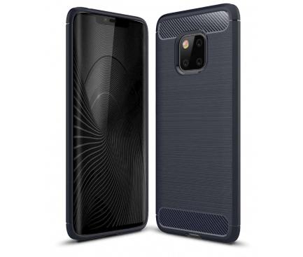 Husa TPU OEM Carbon pentru Huawei Mate 20 Pro, Bleumarin, Blister