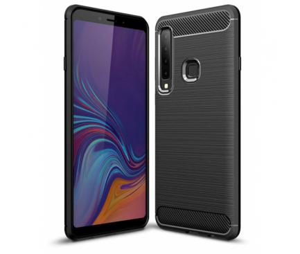 Husa TPU OEM Carbon pentru Samsung Galaxy A7 (2018) A750, Neagra, Blister