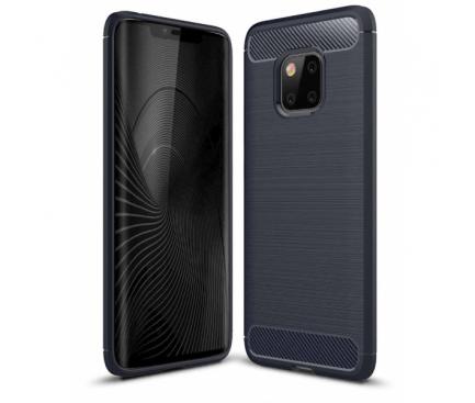 Husa TPU OEM Carbon pentru Samsung Galaxy A7 (2018) A750, Bleumarin, Blister
