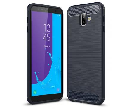 Husa TPU OEM Carbon pentru Samsung J6 Plus (2018) J610, Bleumarin, Blister