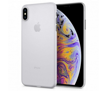 Husa Plastic Spigen Air Skin pentru Apple iPhone XS Max, Transparenta, Blister 065CS24829