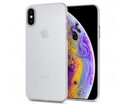 Husa Plastic Spigen Air Skin pentru Apple iPhone X / Apple iPhone XS, Transparenta, Blister 063CS24909