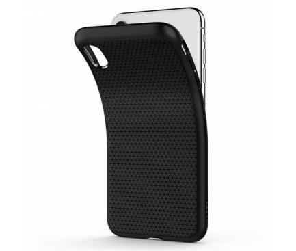 Husa Plastic Spigen Liquid Air pentru Apple iPhone XS Max, Neagra, Blister 065CS25126