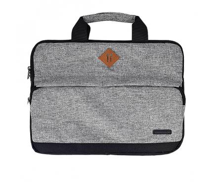 Geanta textil laptop 14.1 inci  FASHION, Gri