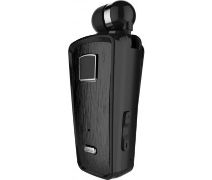 Handsfree Casca Bluetooth Soultech Color Clip PLATINUM BH010S, MultiPoint, Negru, Blister
