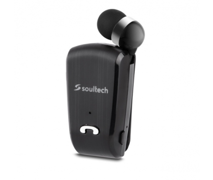 Handsfree Casca Bluetooth Soultech Color Clip Comfort BH012S, MultiPoint, Negru, Blister