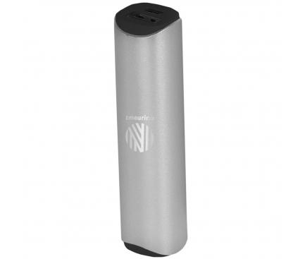 Baterie Externa Powerbank ZMEURINO PB187 2600 mA, 1 x USB, Argintie, Blister 188699