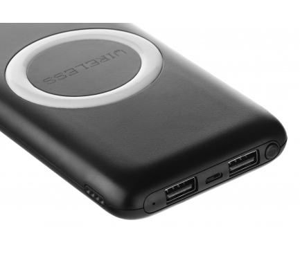 Baterie Externa Powerbank Star W200 12000 mA, 2 x USB - Wireless, Neagra, Blister 187840